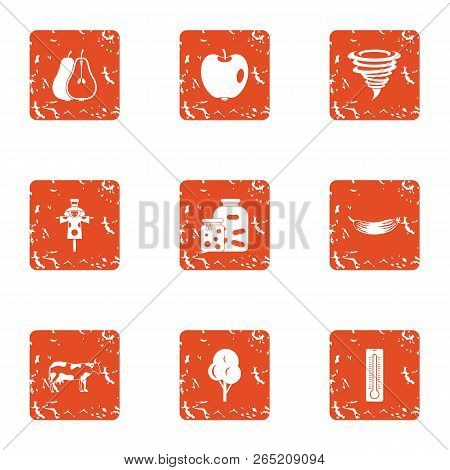 Margin Icons Set. Grunge Set Of 9 Margin Vector Icons For Web Isolated On White Background