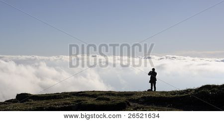 Girl Looking At Clouds