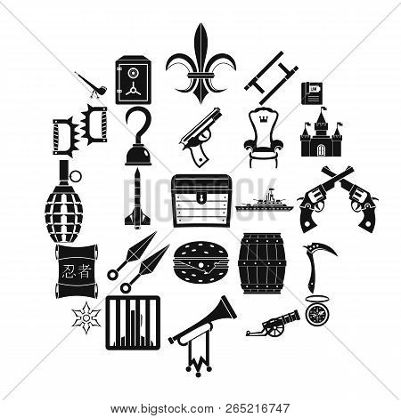 Armament Icons Set. Simple Set Of 25 Armament Vector Icons For Web Isolated On White Background
