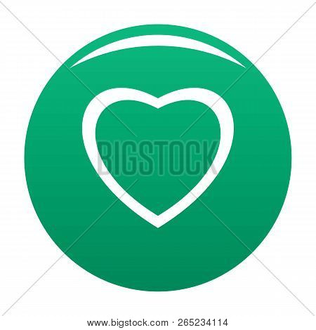 Fearless Heart Icon. Simple Illustration Of Fearless Heart Vector Icon For Any Design Green