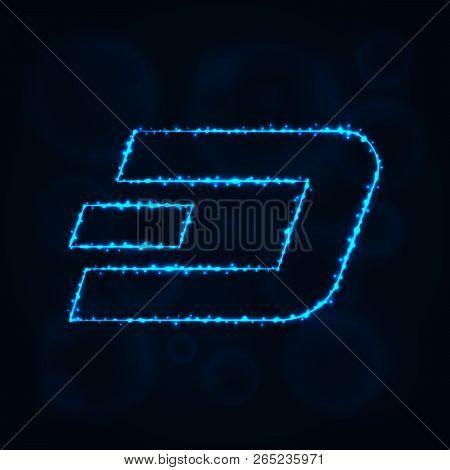 Dash Coin Vector Icon. Dash Coin Symbol For Your Web Site Design, Internet, Business. Dash Coin Illu