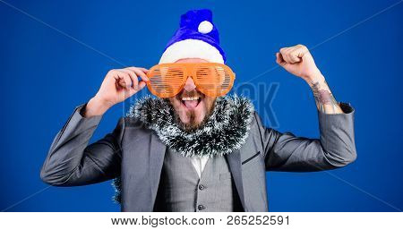 Corporate Holiday Party Ideas Employees Will Love. Corporate Christmas Party. Man Bearded Hipster We