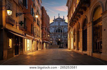 Catholic Church San Moise In Venice, Italy