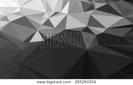 Abstract Polygonal Triangle Dark Background. Vector Polygon Which Consist Of Triangles. Geometric Ba