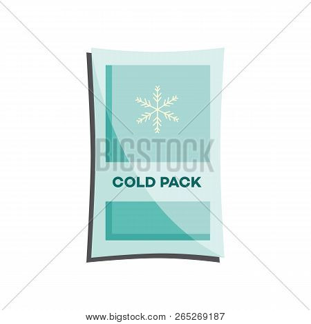 Cold Pack With Liquid Or Gel For First Aid In Case Of Injury Or Bruise Isolated On White Background.