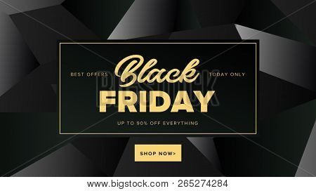 Black Friday Modern Promotion Square Web Banner For Social Media Mobile Apps. Elegant Sale And Disco