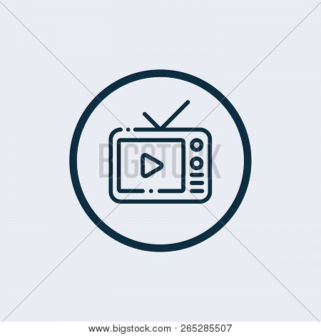 Watching Tv Icon. Watching Television Symbol .vector Illustration