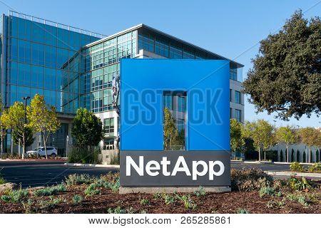 Netapp Corporate Headquarters And Sign