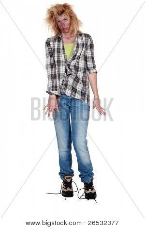 Electrocuted woman having difficulty walking