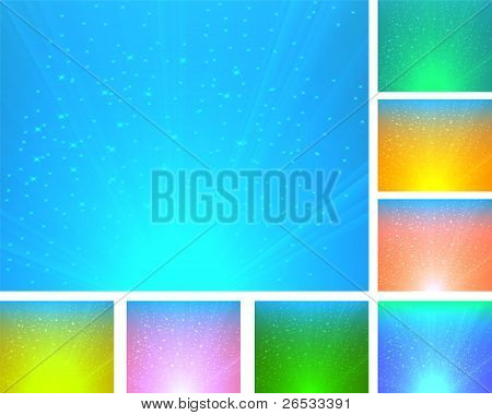 A Set Of Colorful Abstract Backgrounds