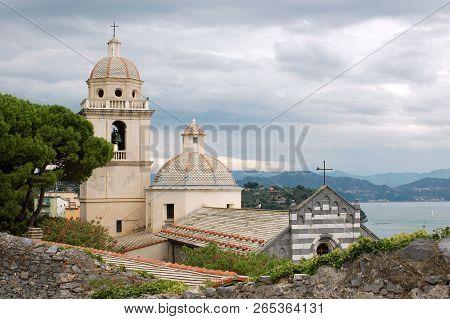 The Sanctuary Of The White Madonna On The Hills Of Porto Venere - Liguria - Italy