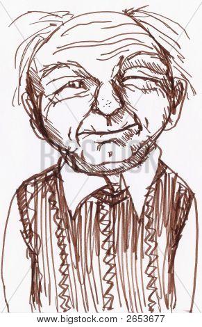 A Smirking Grandpa
