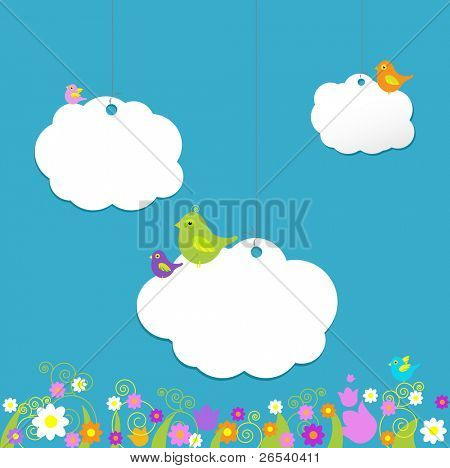 Birds On Clouds