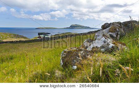 Scenic View Of Nolsoy, Faroe Islands