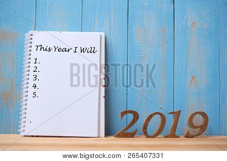 2019 Happy New Years With Notebook