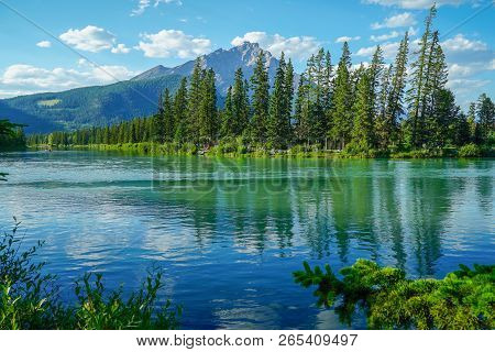 Beautiful Lake Reflections At Banff Indian Trading Post