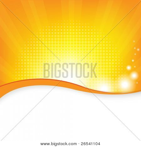 Orange Background, Vector Illustration