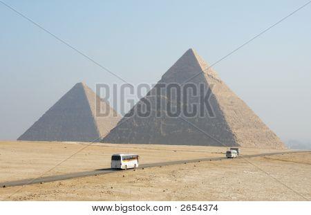 Egypt Pyramids In Sahara Desert
