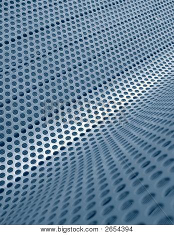 Blue Perforated Metallic Grid