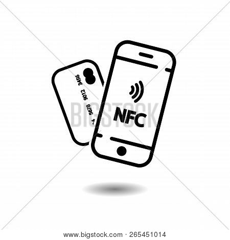 Nfc Mobile Phone And Credit Card, Nfc Payment With Mobile Phone Smartphone
