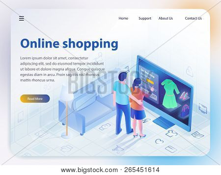 Online Shopping. Ecommerce Sales, Online Shopping, Digital Marketing. Sale And Consumerism Concept.