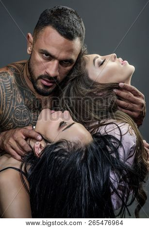 Sexual Harassment And Woman Abuse. Sexually Active Couples. Dominating In The Foreplay Sexual Role P