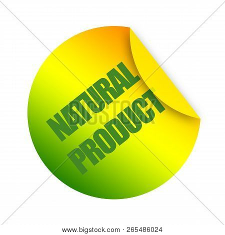 Natural Product Sticker Illustration On White Background