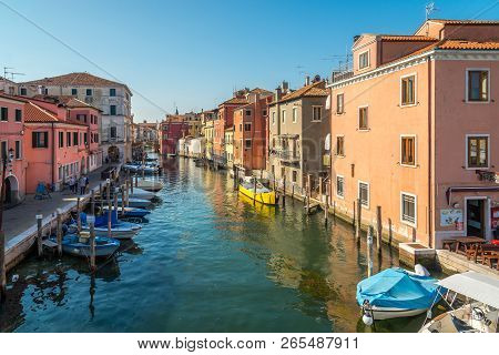 Chioggia,italy - September 16,2018 - View At The Vena Canal In Chioggia. Chioggia Is Situated On A S