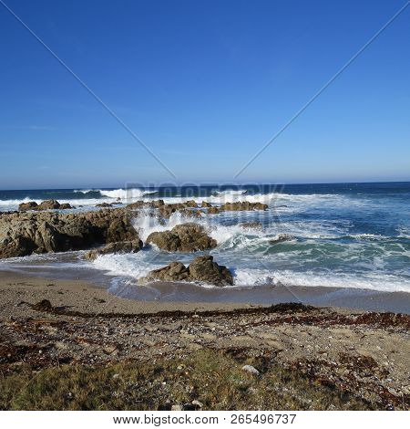 This An Image Of The Pacific Grove, Calif. Coast Taken In The Asilomar Sate Preserve.