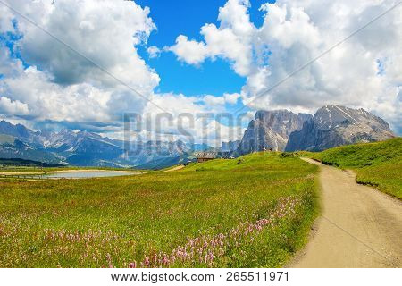The Sassopiatto Is A Mountain Of The Dolomitic Alps High 2.969 M S.l.m. It Is Part Of The Sassolungo