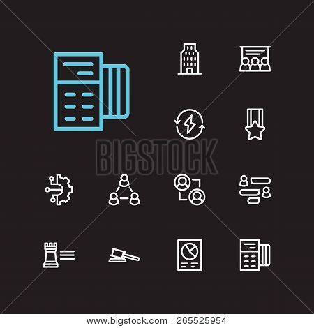 Business Icons Set. Business Training And Business Icons With Business Technology, Conversation And
