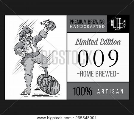 Beer Brewers Limited Edition White On Black Is A Vector Illustration About Drinking