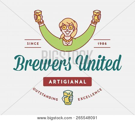 Beer Brewers United Is A Vector Illustration About Drinking