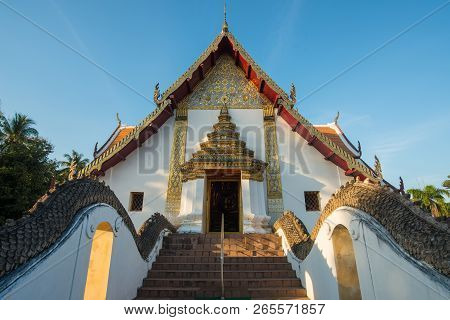 Wat Phumin The Iconic Most Famous Temple In Nan Province Of Thailand.