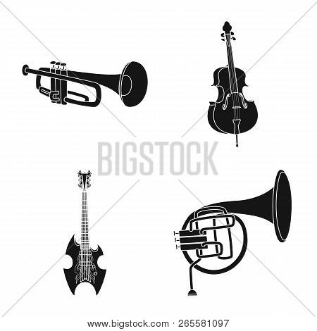 Vector Design Of Music And Tune Sign. Set Of Music And Tool Stock Symbol For Web.