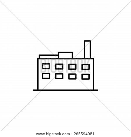 Building, Factory Outline Icon. Element Of Architecture Illustration. Premium Quality Graphic Design