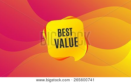Best Value. Special Offer Sale Sign. Advertising Discounts Symbol. Wave Background. Abstract Shoppin