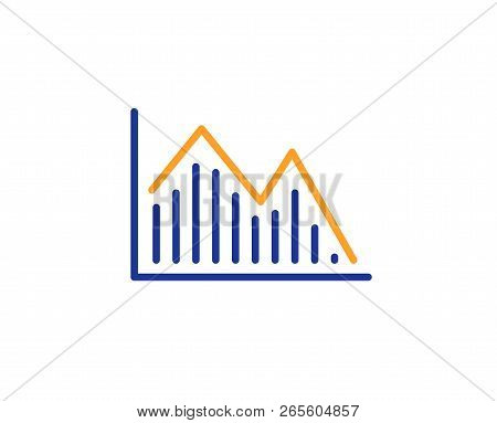 Financial Chart Line Icon. Economic Graph Sign. Stock Exchange Symbol. Business Investment. Colorful