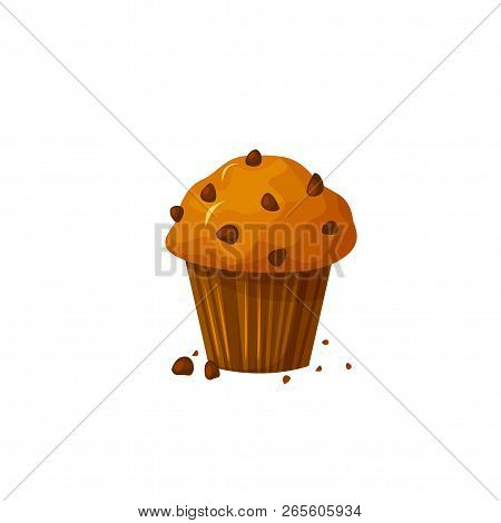 Muffin Icon Vector Isolated On White Background. Cupcake, Muffin Concept. Bakery Product In Cartoon