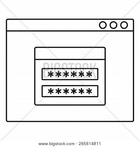 Login Account Icon. Outline Illustration Of Login Account Vector Icon For Web Design Isolated On Whi
