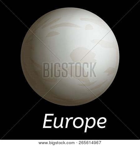 Space Europe Icon. Realistic Illustration Of Space Europe Vector Icon For Web Design