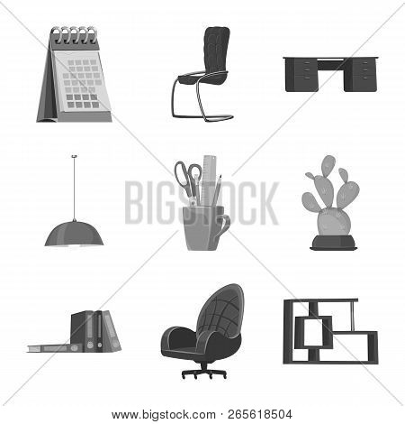 Vector Illustration Of Furniture And Work Icon. Collection Of Furniture And Home Stock Vector Illust
