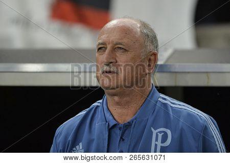 Rio, Brazil - October 27, 2018: Felipao Coach In Match Between Flamengo And Palmeiras By The Brazili