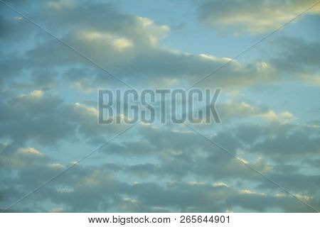 Colorful Sky And Soft Clouds For Background And Postcard