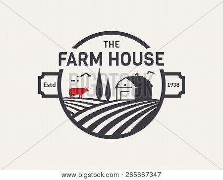 Farm House Logo Vector & Photo (Free Trial)   Bigstock