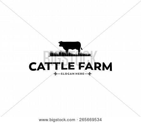Cattle Farm And Crop Or Livestock Vector Logo Design Inspiration