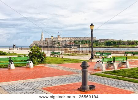 The famous castle of El Morro from across the bay of Havana