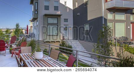 Modern Deck With View Of Homes In Daybreak Utah