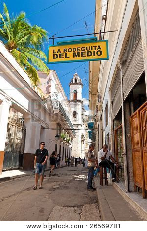 HAVANA - OCT 20: La Bodeguita del Medio on Oct 20, 2011 in Havana.  Since its opening in 1942, this famous restaurant has been a favorite of Ernest Hemingway and Pablo Neruda among other personalities.