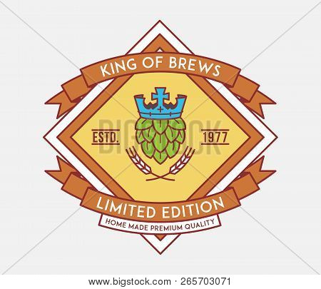 Beer King Of Brewers Is A Vector Illustration About Drinking